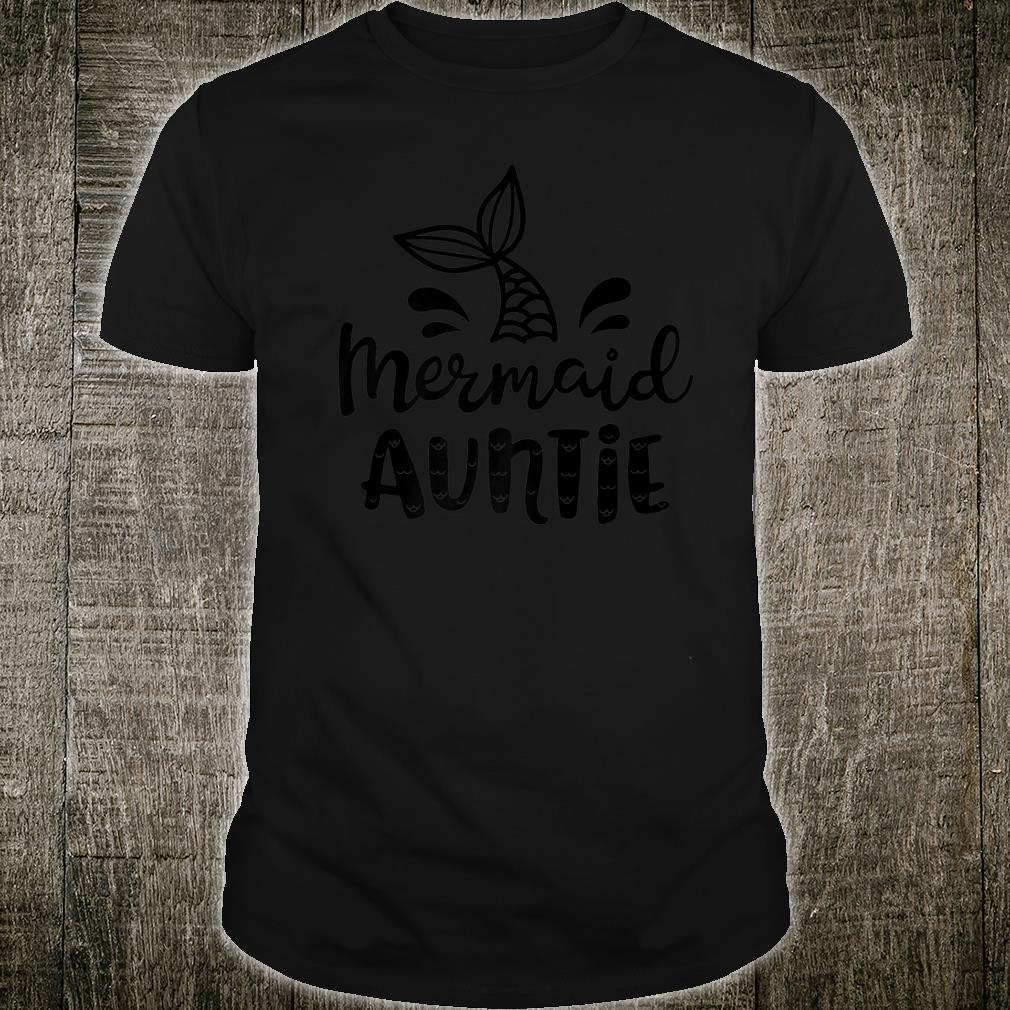 Mermaid Auntie Aunt Family Matching Birthday Shirt