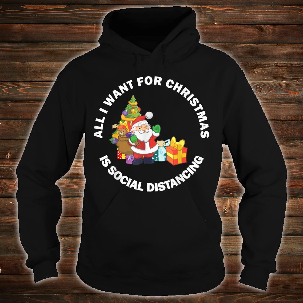 Merry Christmas 2020 New Year Social Distancing Meme Shirt hoodie