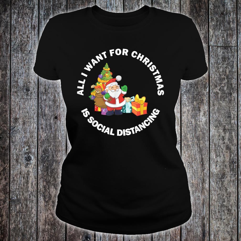 Merry Christmas 2020 New Year Social Distancing Meme Shirt ladies tee