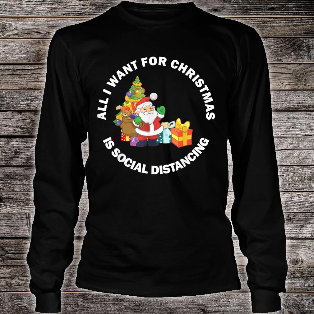 Merry Christmas 2020 New Year Social Distancing Meme Shirt long sleeved