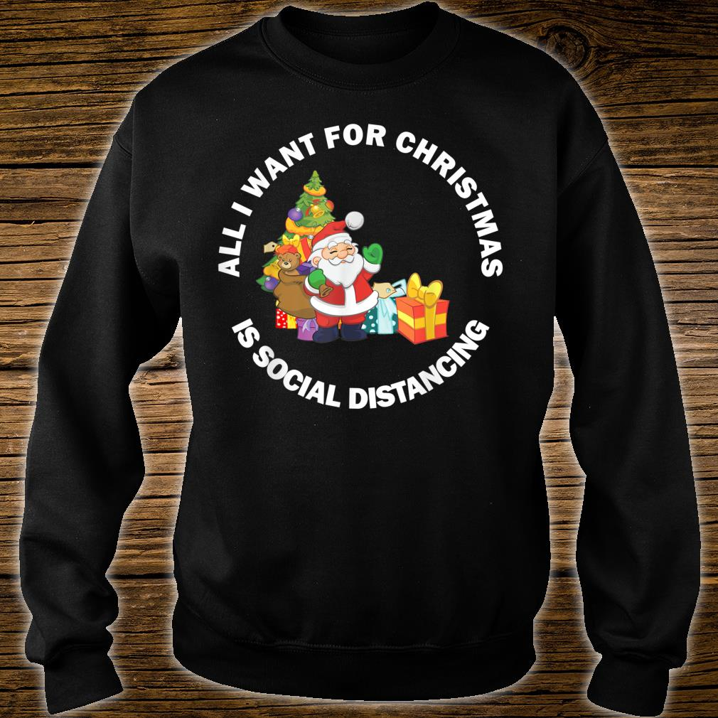 Merry Christmas 2020 New Year Social Distancing Meme Shirt sweater