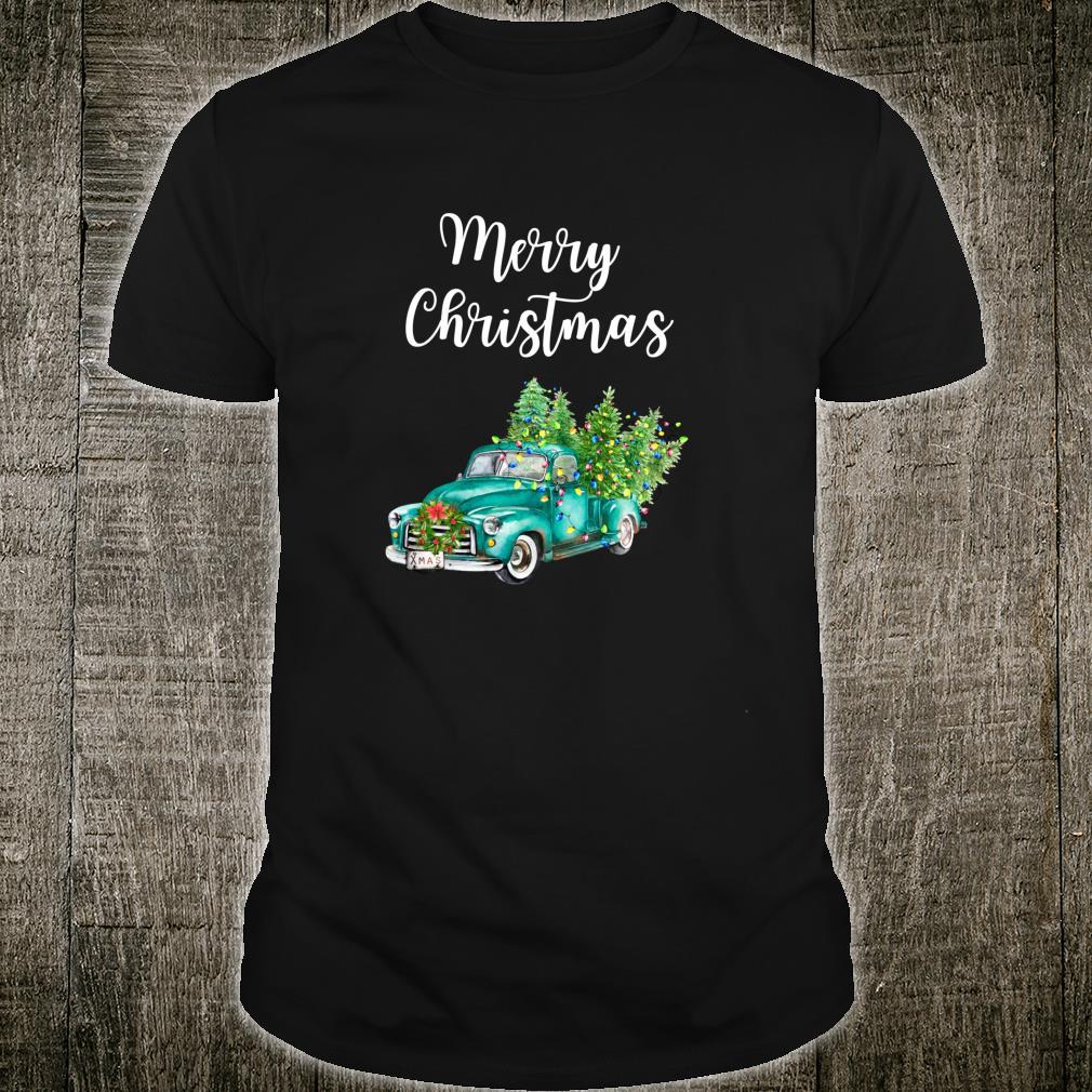 Merry Christmas Vintage Truck Christmas Rustic Farm Truck Shirt
