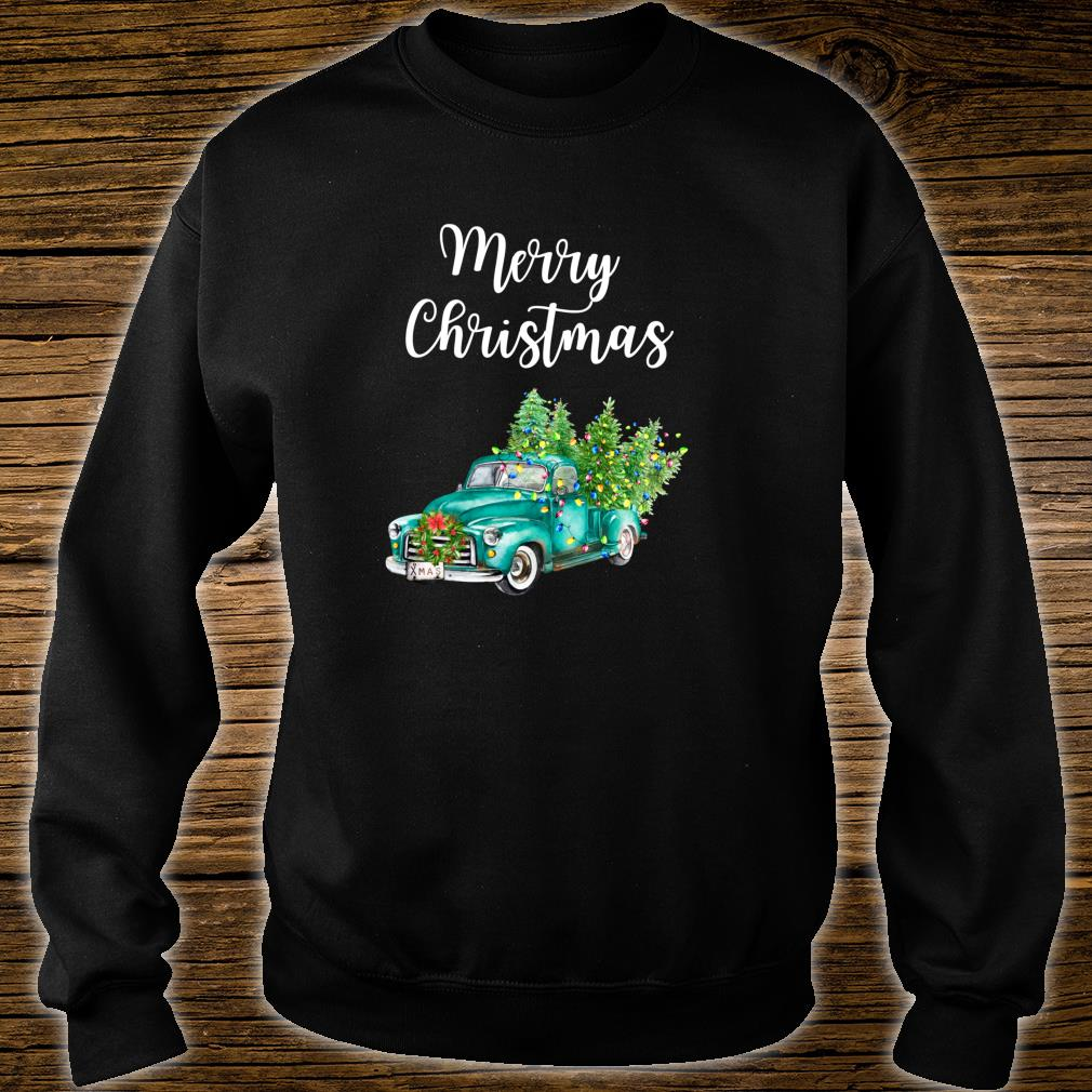 Merry Christmas Vintage Truck Christmas Rustic Farm Truck Shirt sweater
