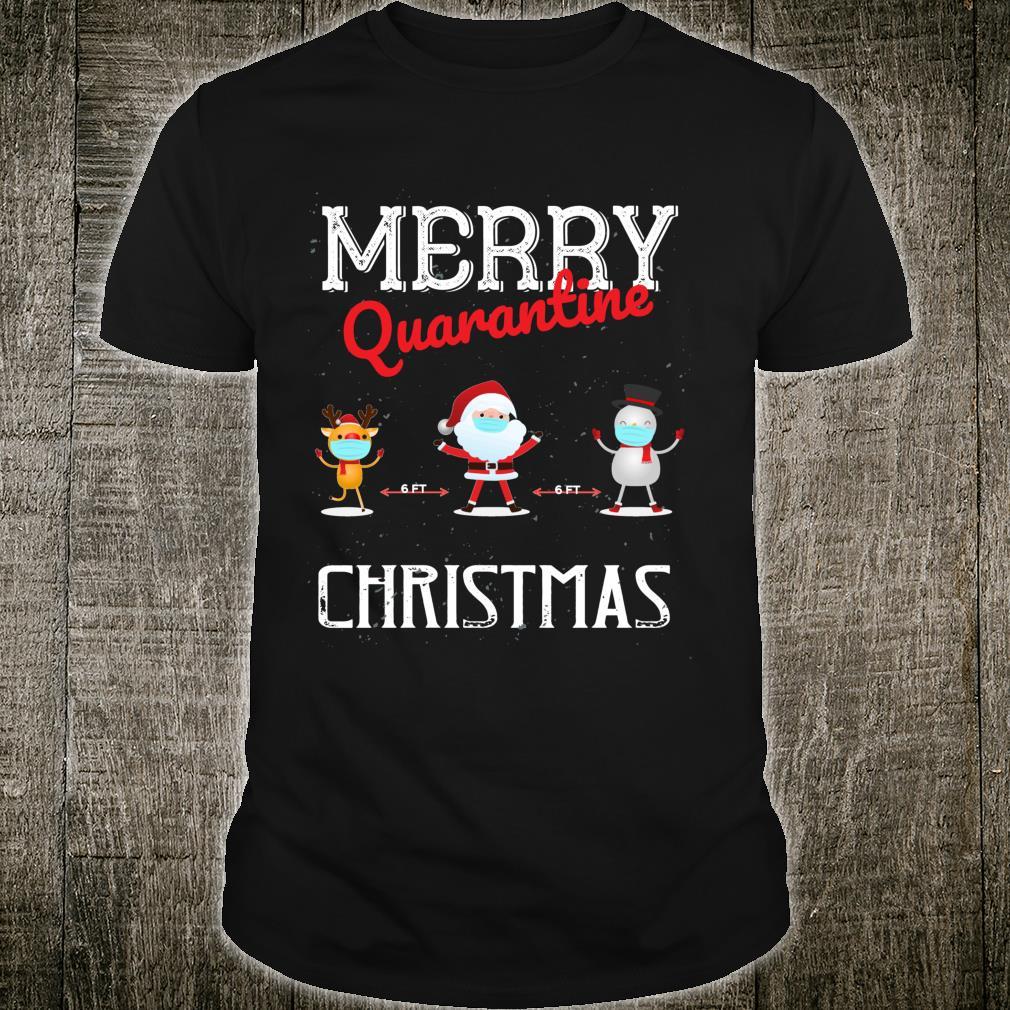 Merry Quarantine Christmas Xmas Family Pajamas Wear Shirt