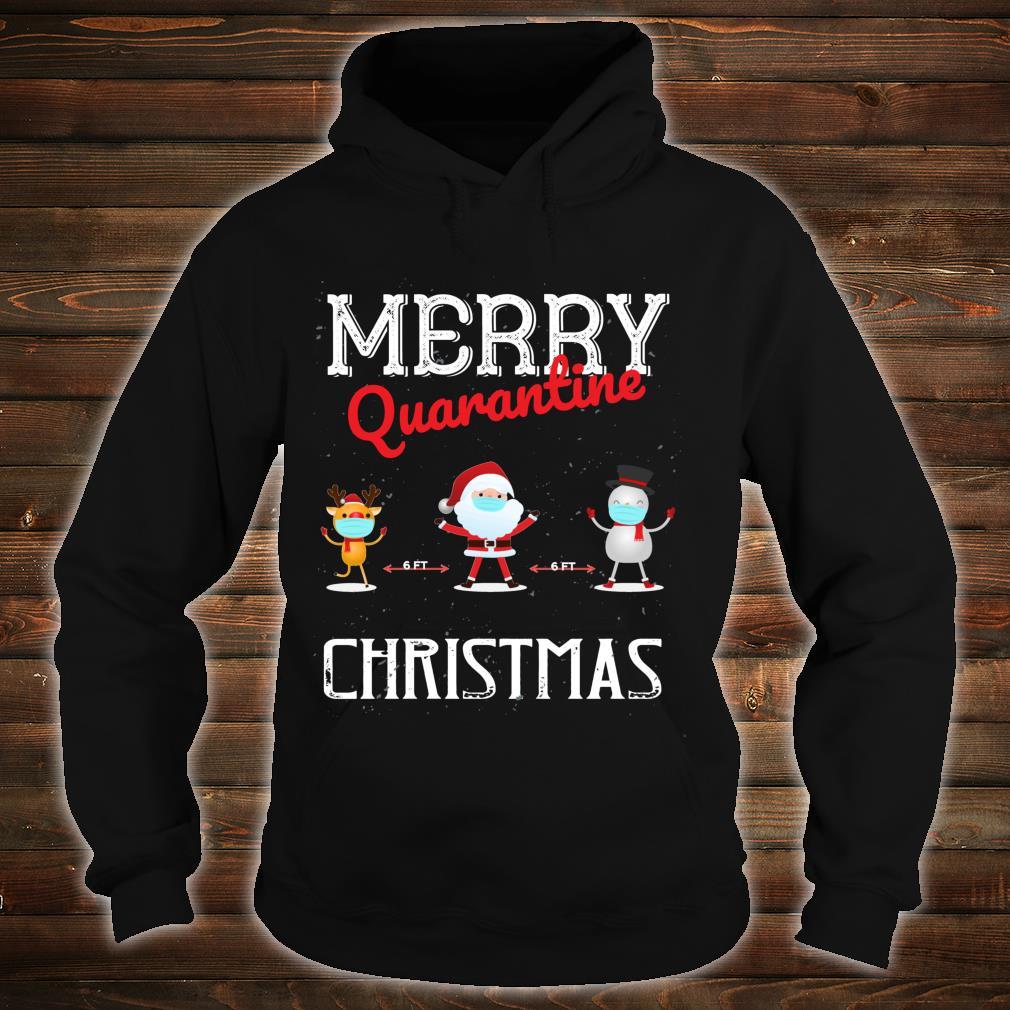 Merry Quarantine Christmas Xmas Family Pajamas Wear Shirt hoodie