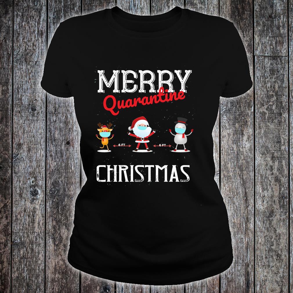 Merry Quarantine Christmas Xmas Family Pajamas Wear Shirt ladies tee