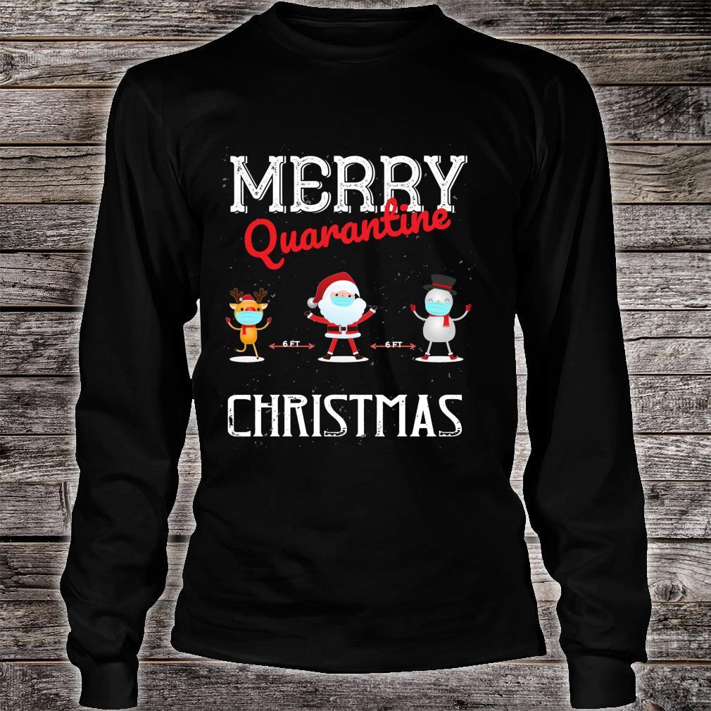Merry Quarantine Christmas Xmas Family Pajamas Wear Shirt long sleeved