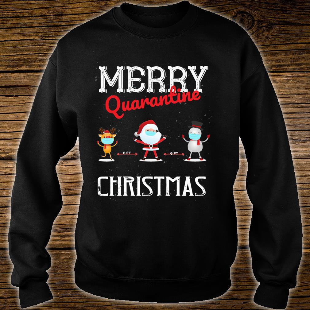 Merry Quarantine Christmas Xmas Family Pajamas Wear Shirt sweater