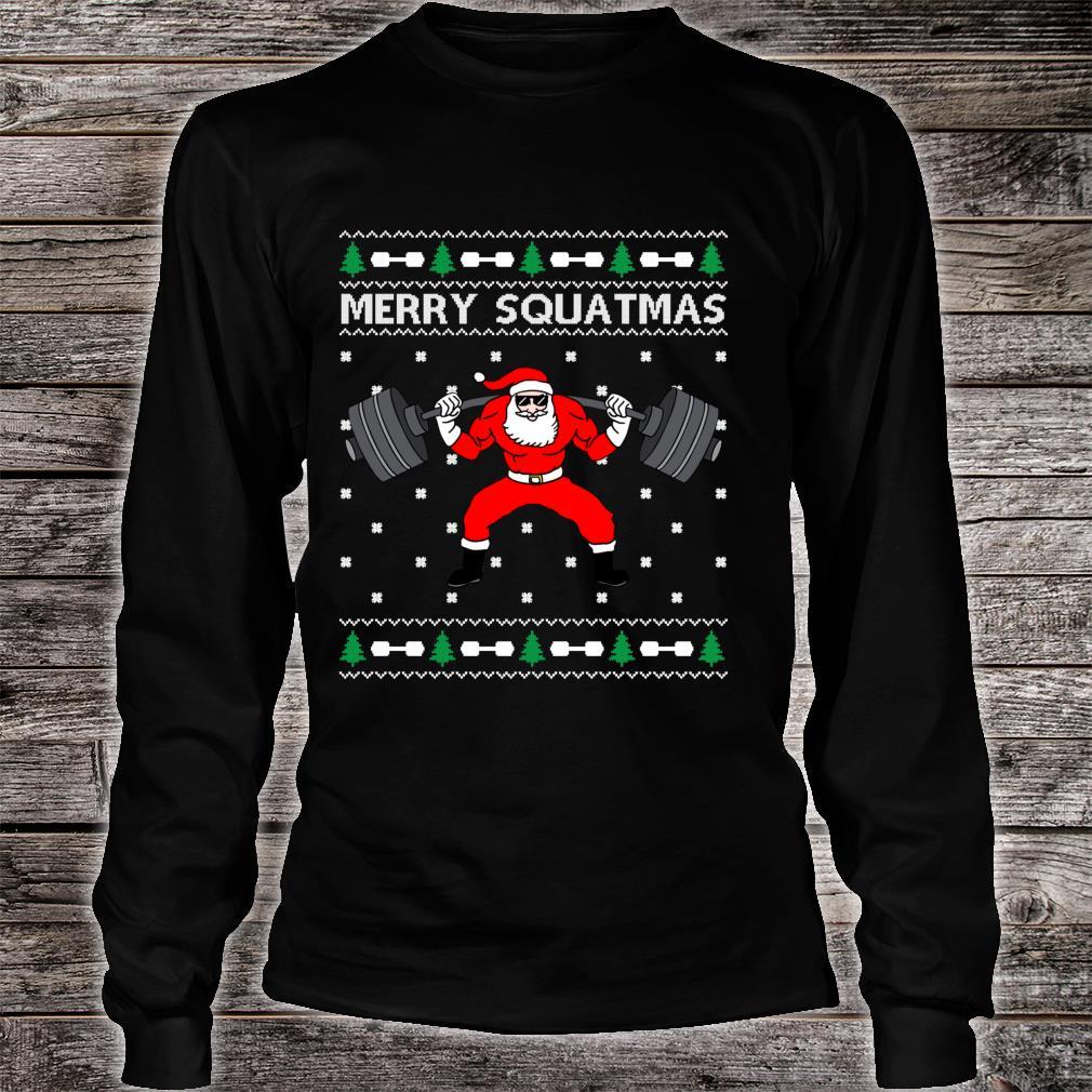 Merry Squatmas Santa Claus Ugly Christmas Shirt long sleeved