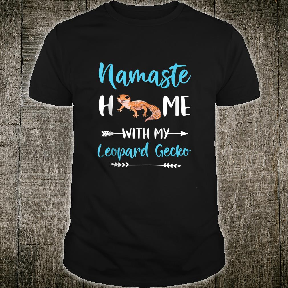Namaste Home With My Leopard Gecko Yoga Mom Workout Shirt