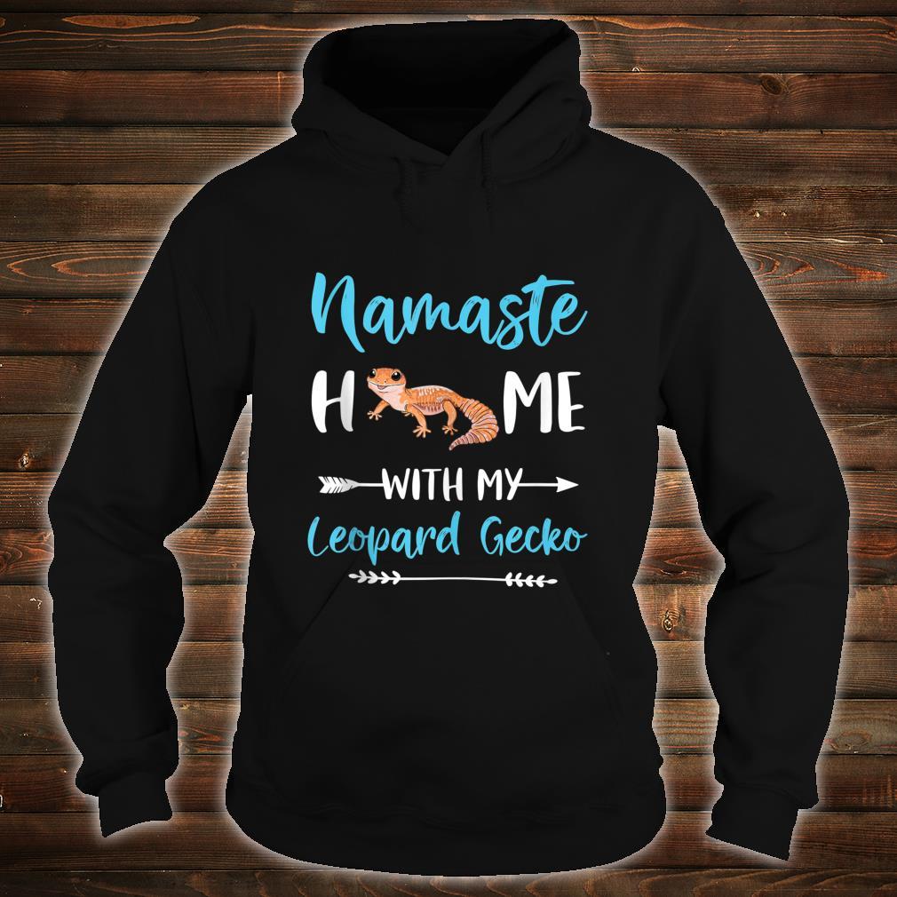 Namaste Home With My Leopard Gecko Yoga Mom Workout Shirt hoodie