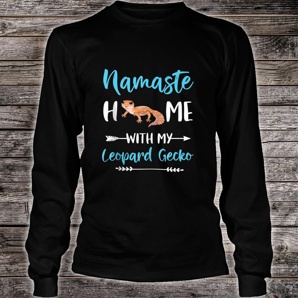 Namaste Home With My Leopard Gecko Yoga Mom Workout Shirt long sleeved