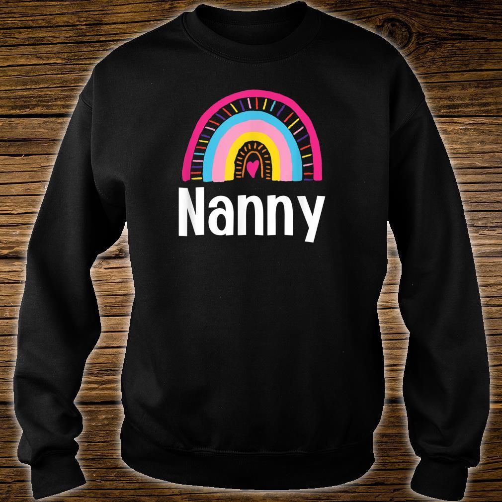 Nanny Boho Rainbow Whimsical Colorful Shirt sweater