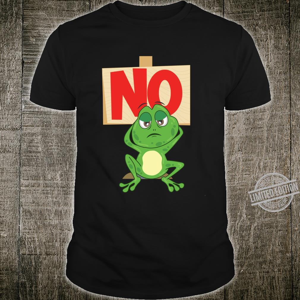 Nein No Keine Lust Frosch Motiv Statement Faulenzer Langarmshirt Shirt