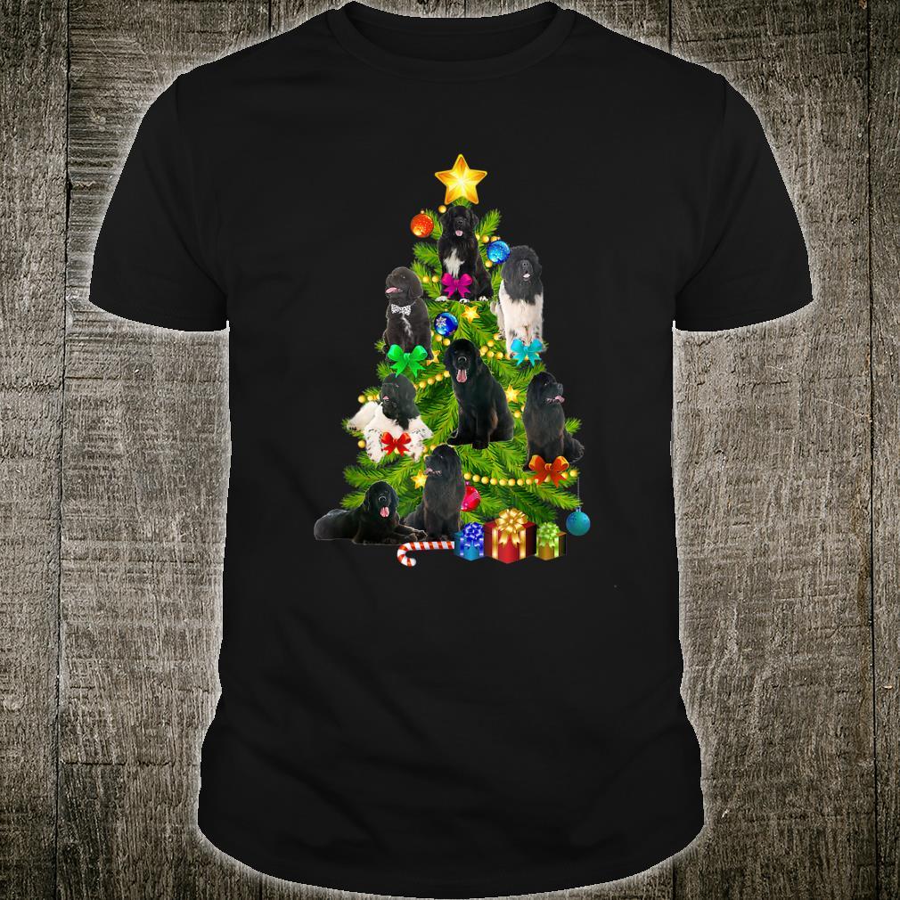 Newfoundland Pine Tree Christmas Dog Xmas Shirt