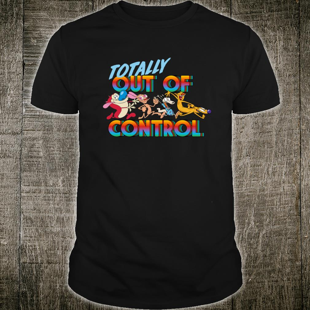 Nickelodeon Totally Out Of Control Text Group Shot Shirt