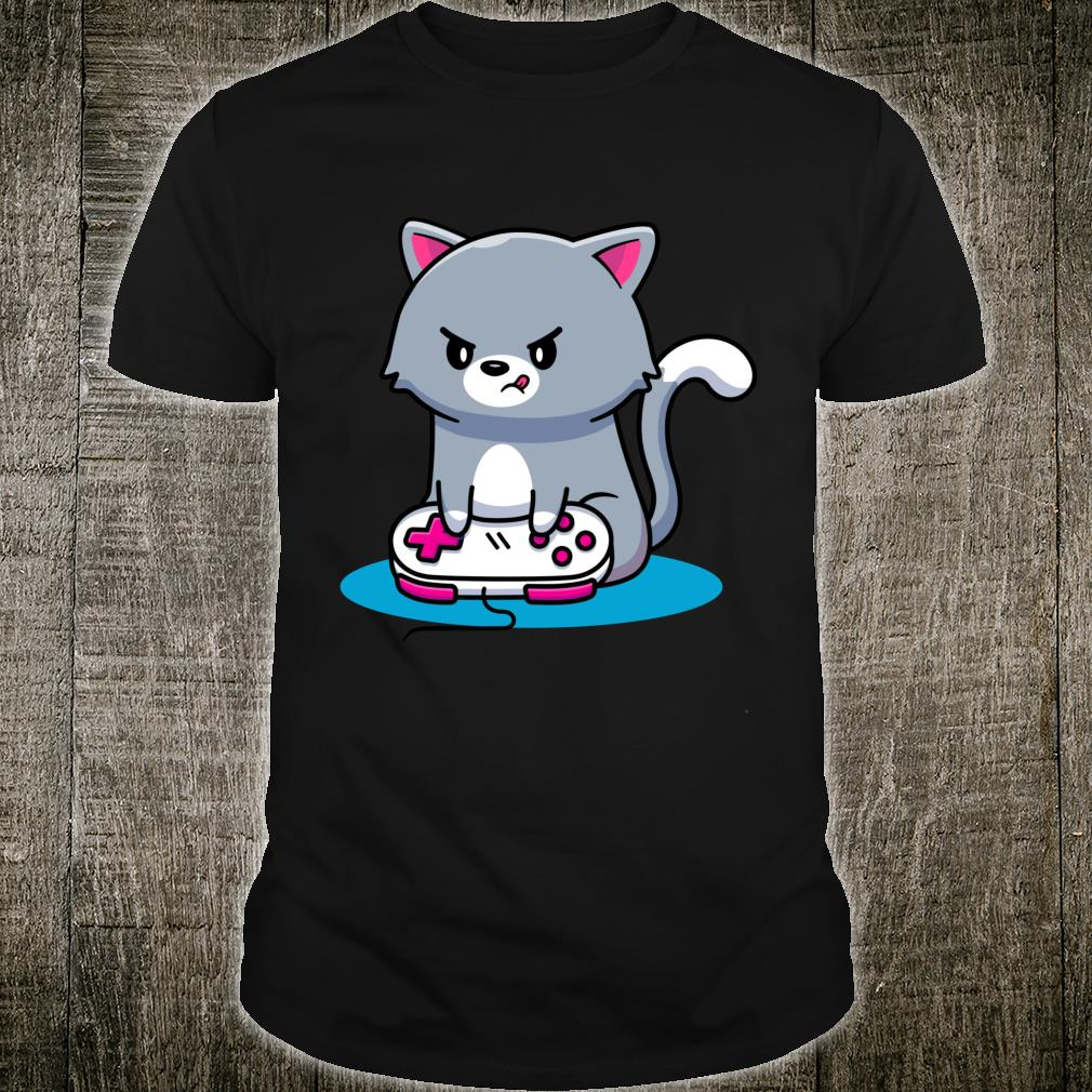 Niedliche Gaming Katze Video Game Computer Videogame PC Shirt