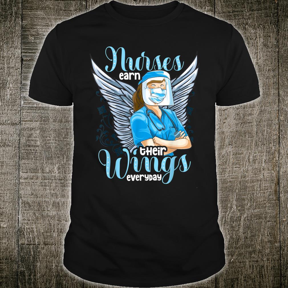 Nurses Angels Wings My Heroes Shirt
