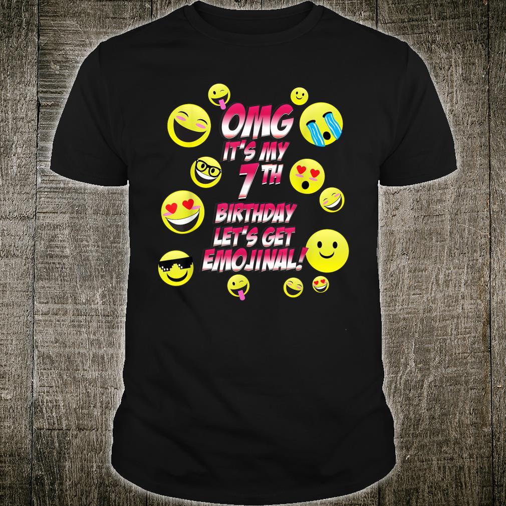 OMG It's My 7th Happy Birthday 7 year old Boy Girl Shirt
