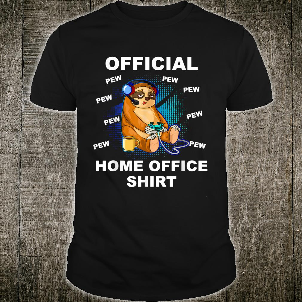Official Home Office Gamer Gaming Sloth Shirt