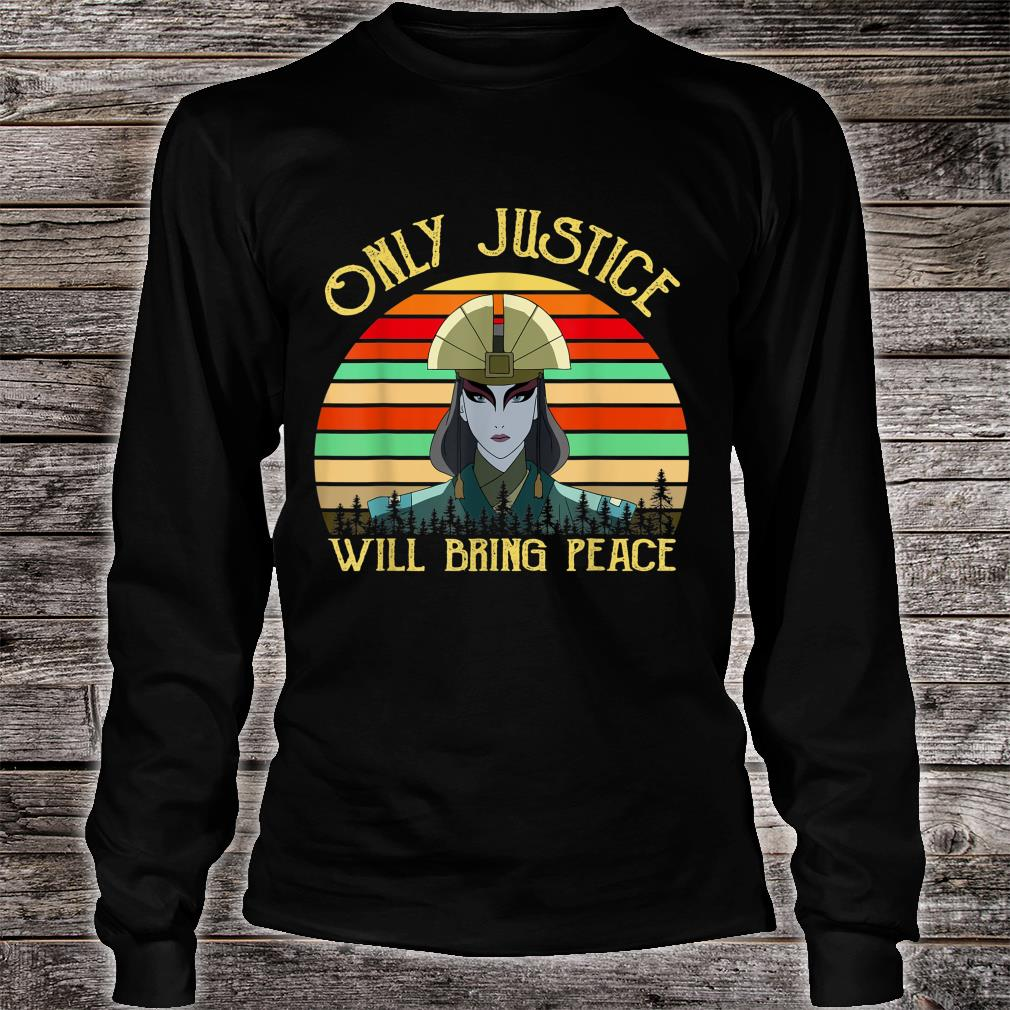 Only Justice Will Bring Peace Vintage Retro Shirt long sleeved