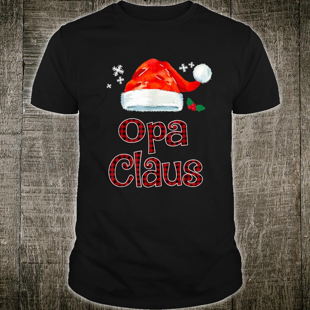 Opa Claus Christmas Pajama Family Matching Xmas Shirt