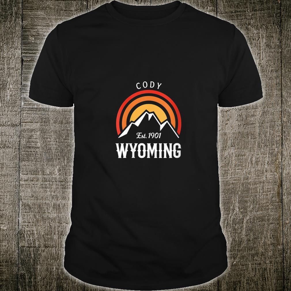 Original Cody Wyoming Rocky Mountains Design Novelty Shirt