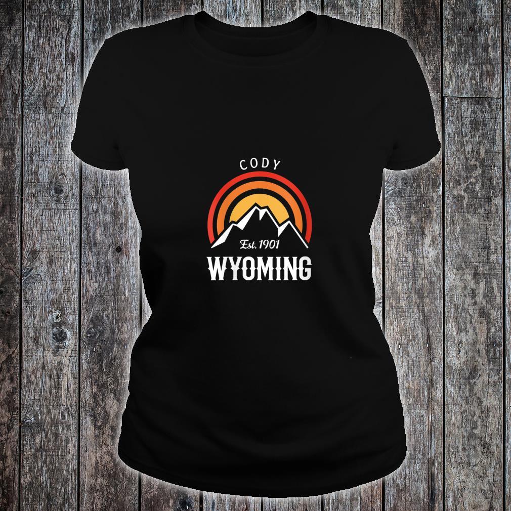 Original Cody Wyoming Rocky Mountains Design Novelty Shirt ladies tee