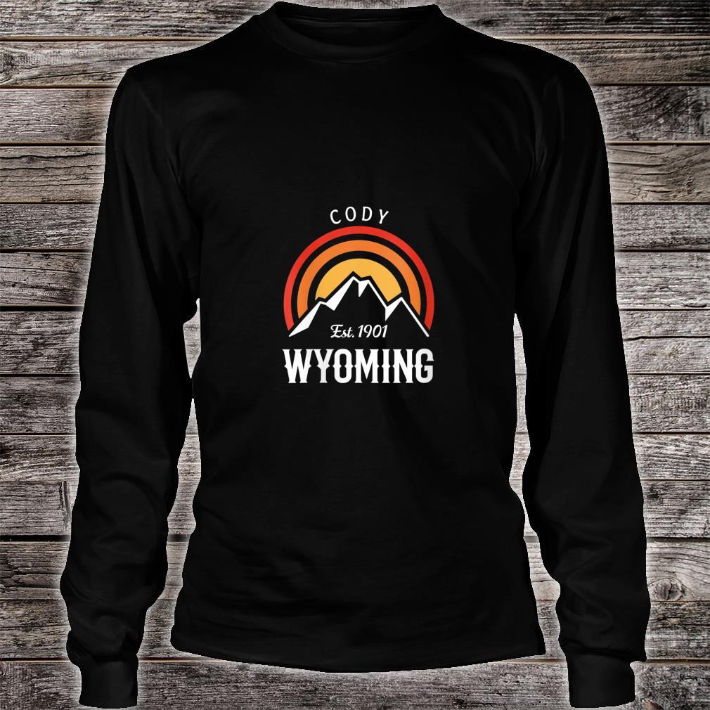 Original Cody Wyoming Rocky Mountains Design Novelty Shirt long sleeved