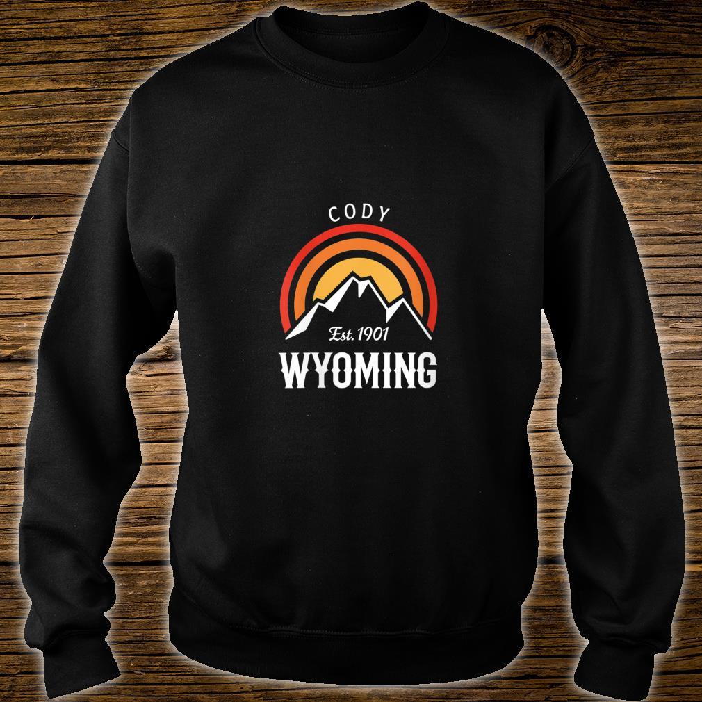 Original Cody Wyoming Rocky Mountains Design Novelty Shirt sweater