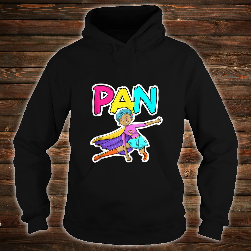 Pan Pansexual Superhero LGBTQ Pride Flag Protest Shirt hoodie