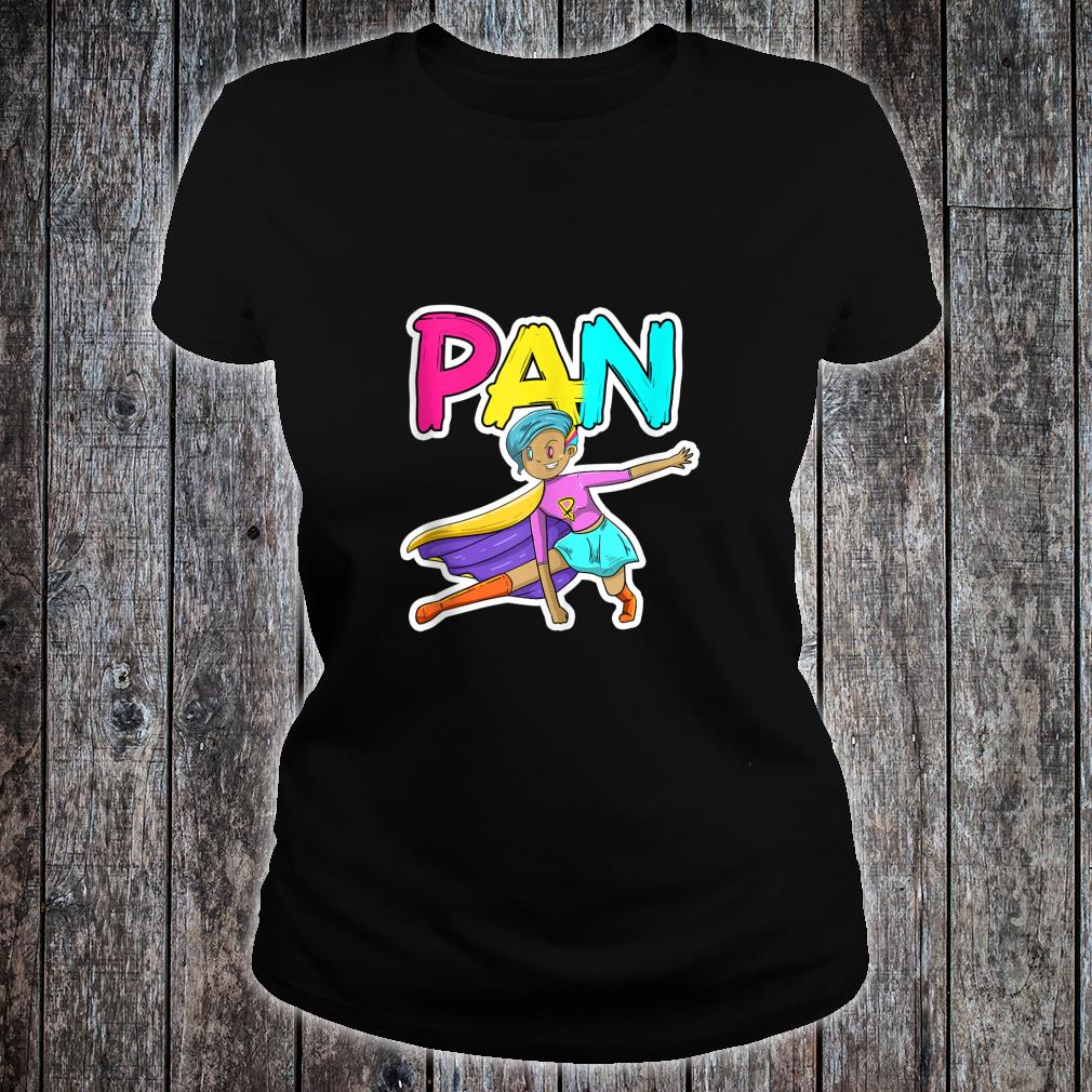 Pan Pansexual Superhero LGBTQ Pride Flag Protest Shirt ladies tee