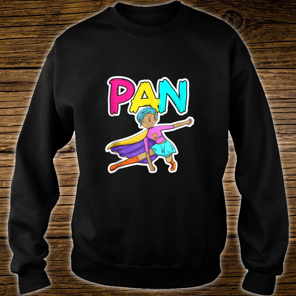 Pan Pansexual Superhero LGBTQ Pride Flag Protest Shirt sweater