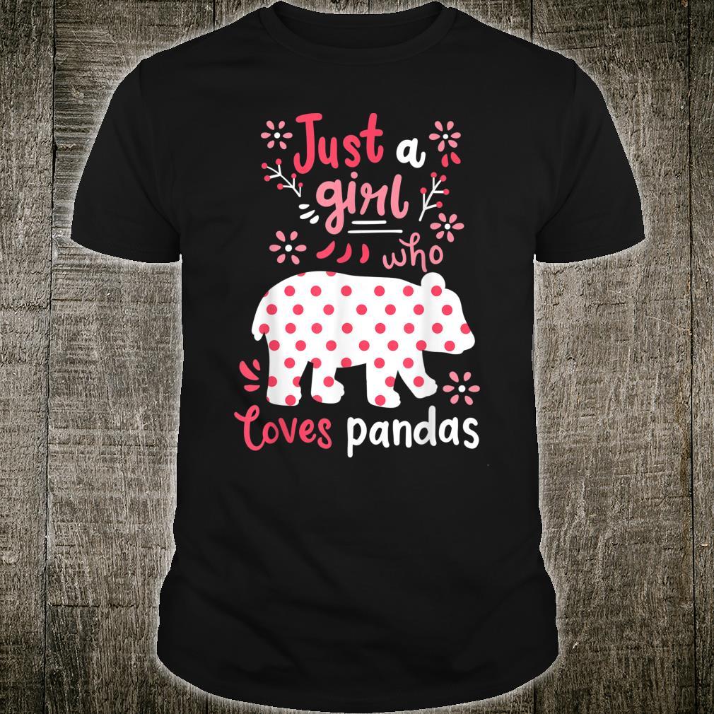 Panda Just A Girl Pandas Shirt