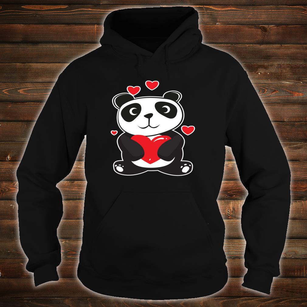 Panda Love Cute Hearts Panda Cuddle Design Bear Shirt hoodie