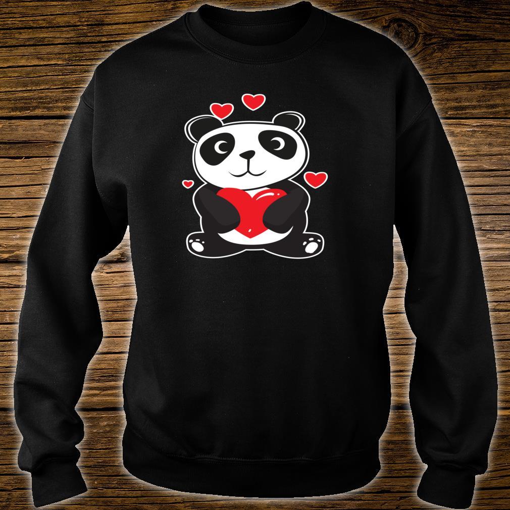 Panda Love Cute Hearts Panda Cuddle Design Bear Shirt sweater