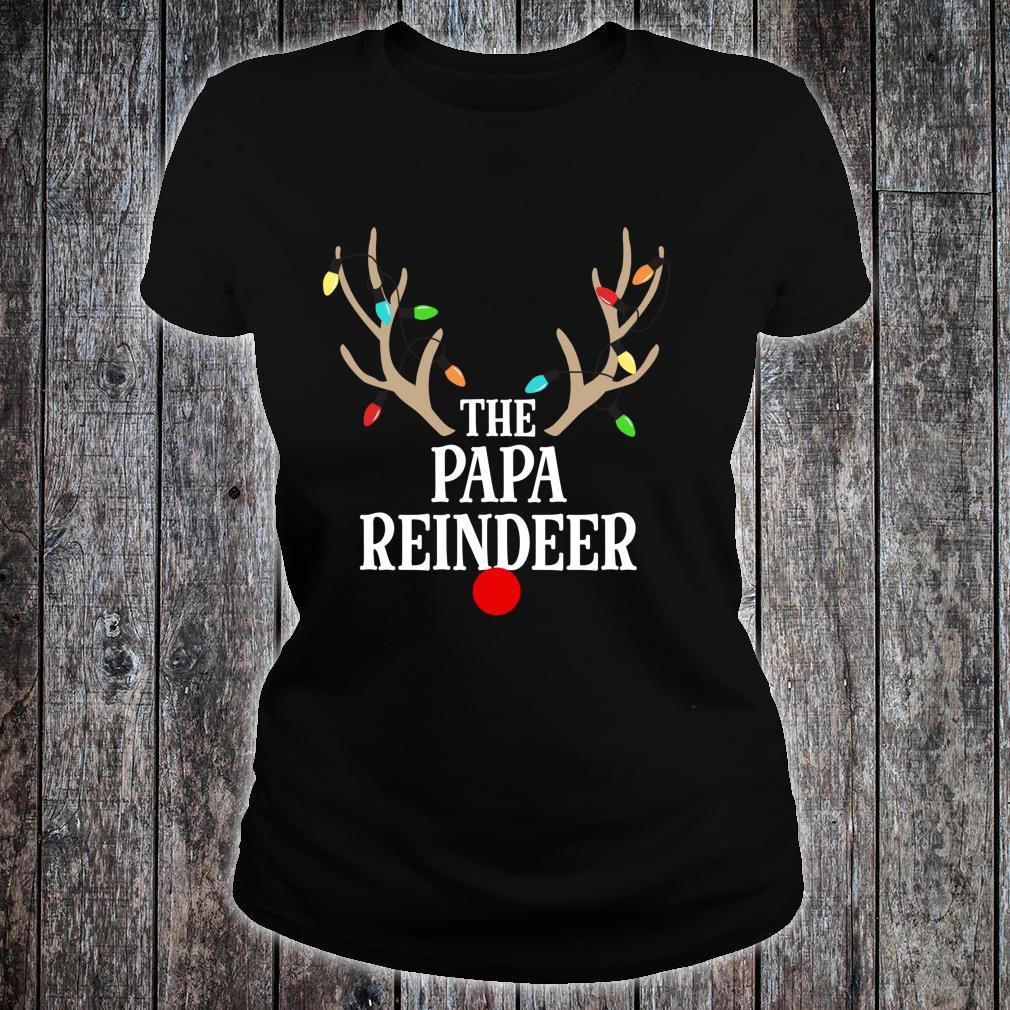 Papa Reindeer Matching Family Christmas Pajamas Group Photo Shirt ladies tee