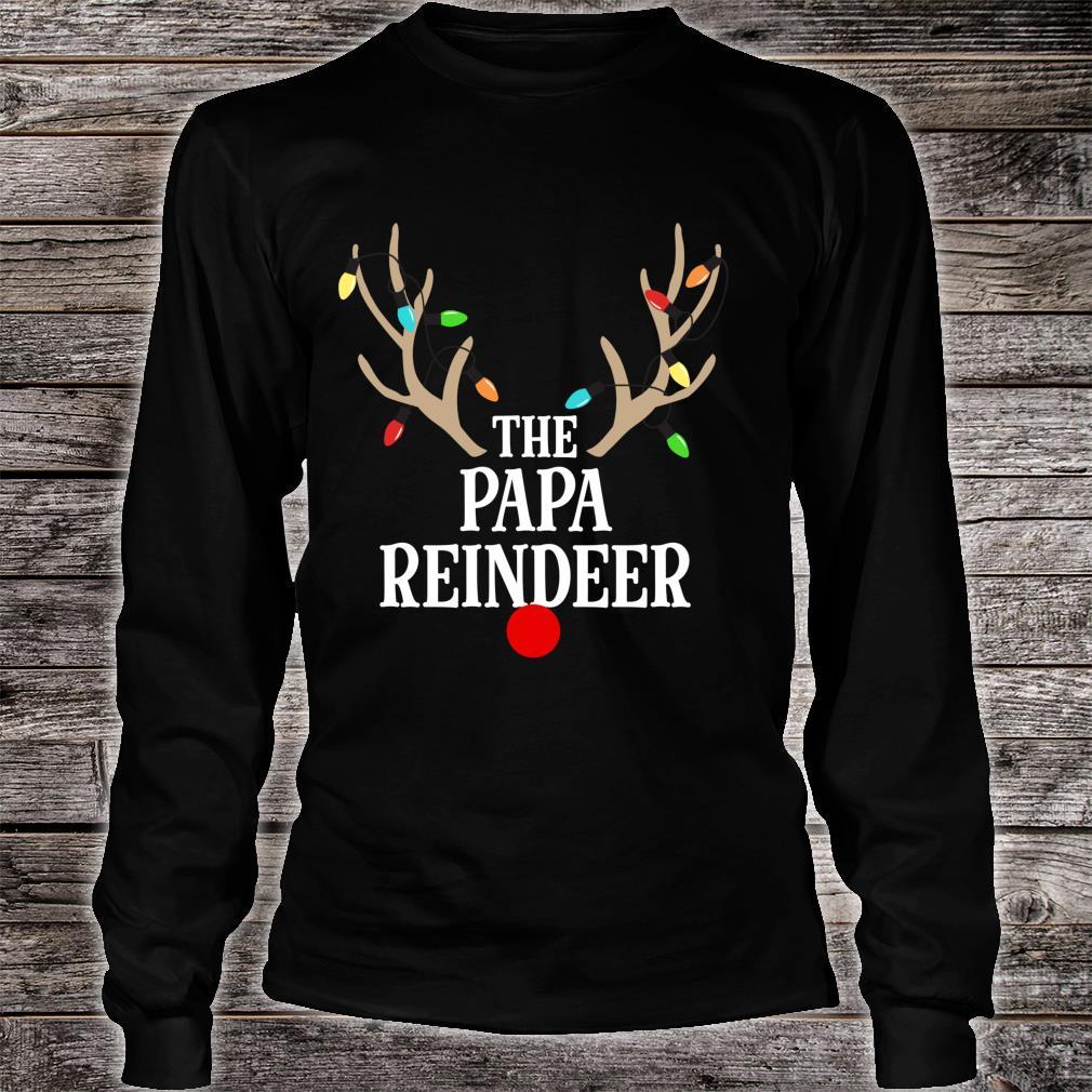 Papa Reindeer Matching Family Christmas Pajamas Group Photo Shirt long sleeved