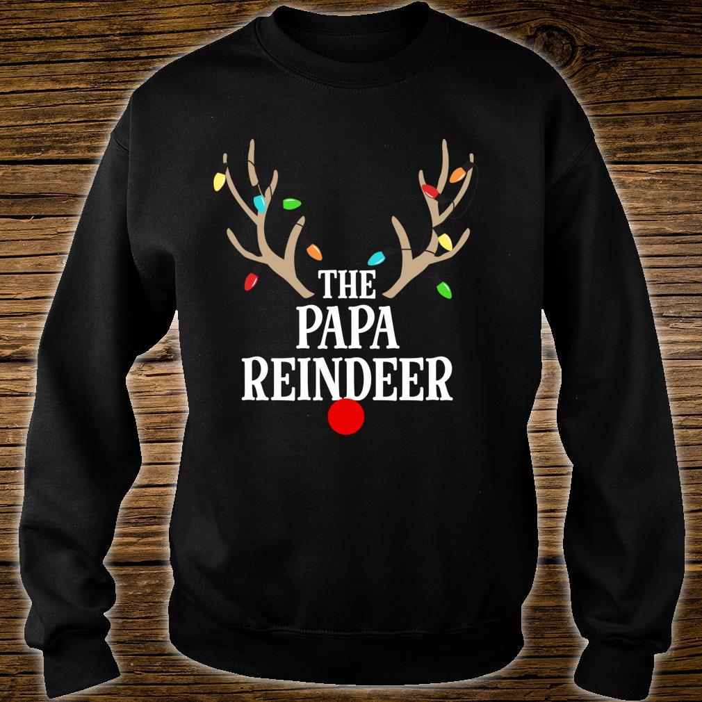 Papa Reindeer Matching Family Christmas Pajamas Group Photo Shirt sweater