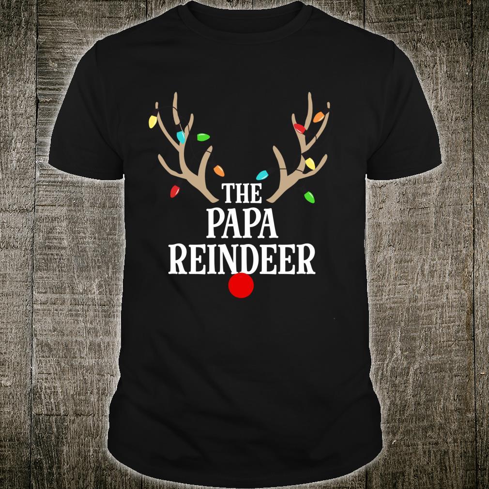 Papa Reindeer Matching Family Christmas Pajamas Group Photo Shirt