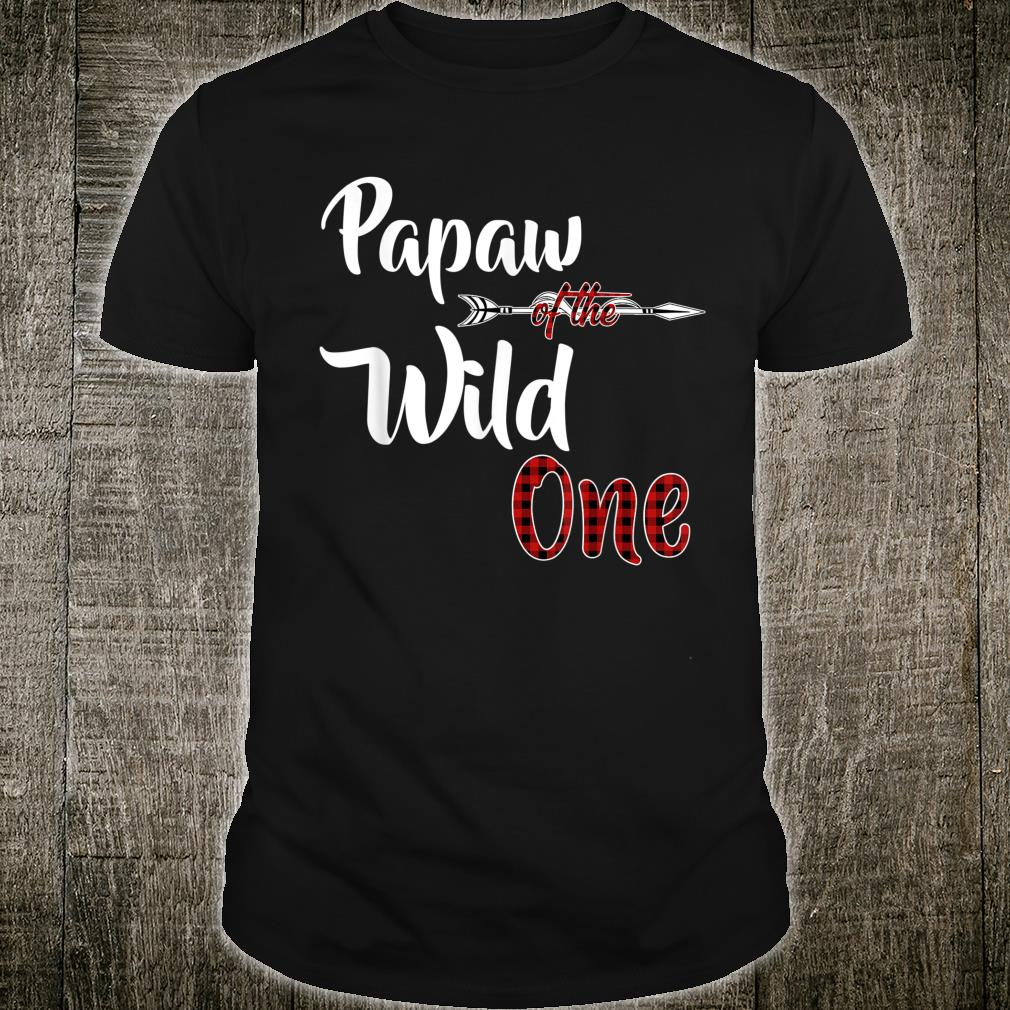 Papaw of the Wild One Plaid Lumberjack 1st Birthday Shirt