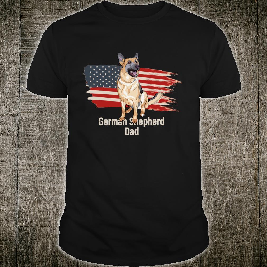 Patriotic German Shepherd Dog American Flag Dog Shirt