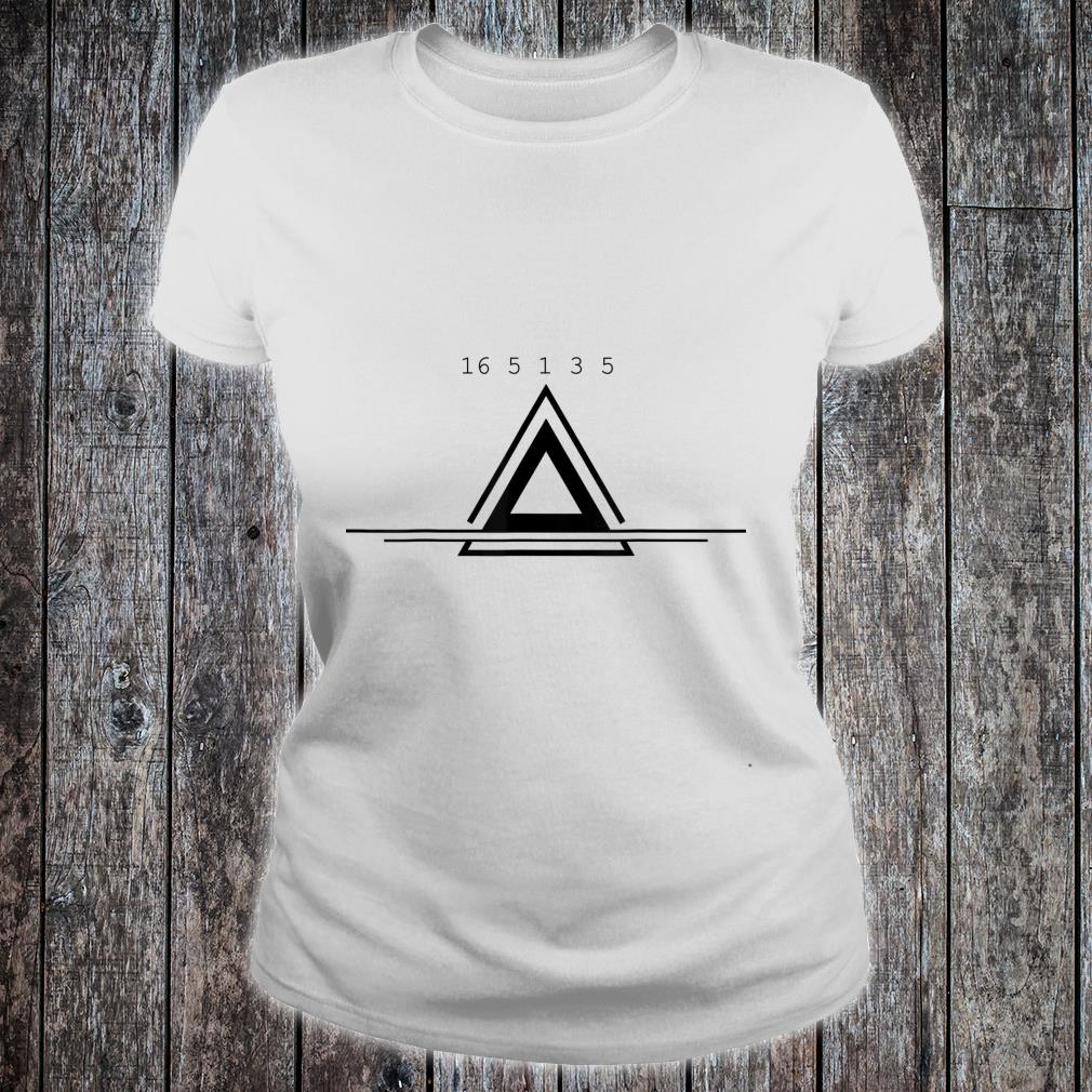 Peace In Numbers With Geometric Shape Creative Shirt ladies tee