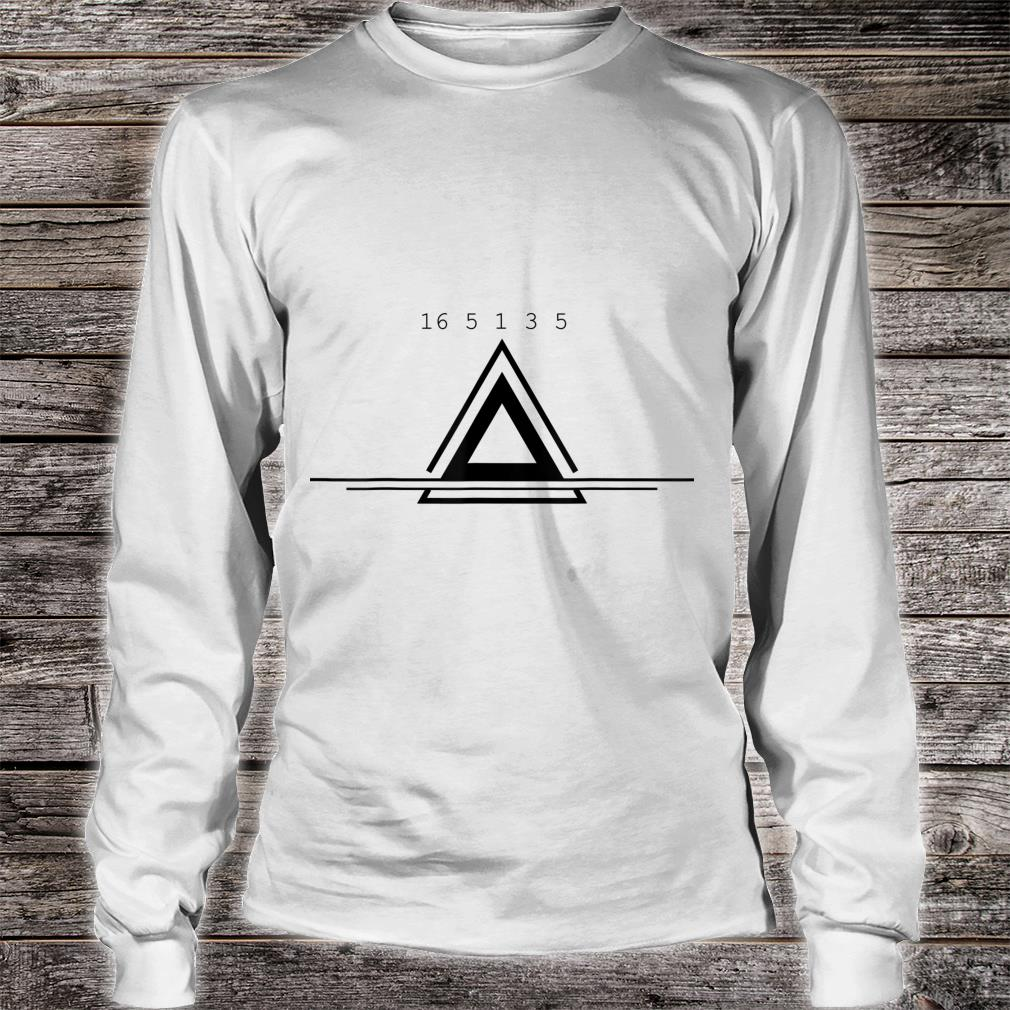 Peace In Numbers With Geometric Shape Creative Shirt long sleeved