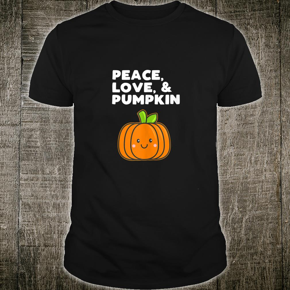 Peace Love Pumpkin Fall Halloween Girls Shirt