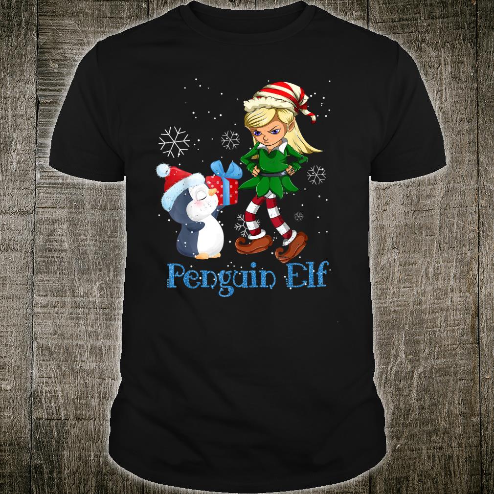 Penguin Elf Christmas Matching Family Pajama Shirt