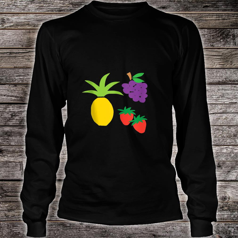 Pineapple Grapes Strawberries Shirt long sleeved