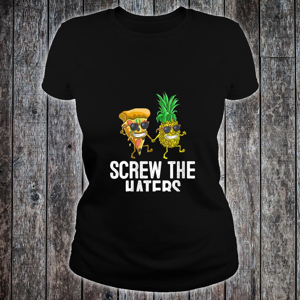Pineapple Pizza Party Pepperoni Cute Shirt ladies tee