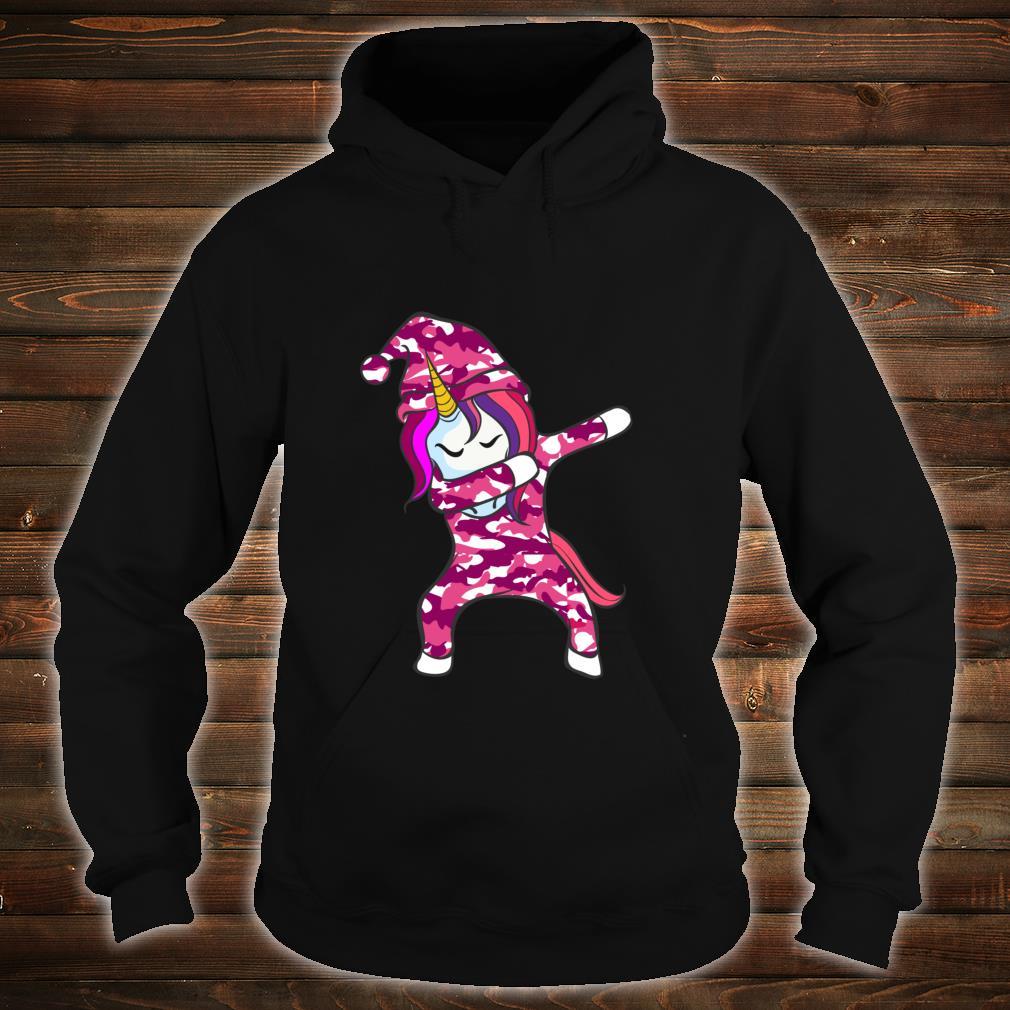 Pink Camo Unicorn Pink Camouflage dabbing unicorn Shirt hoodie