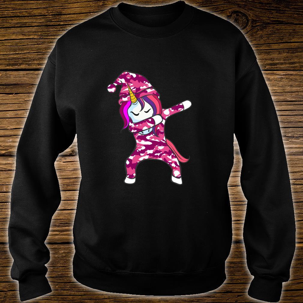 Pink Camo Unicorn Pink Camouflage dabbing unicorn Shirt sweater